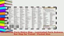 PDF  Streetwise Paris Metro Map  Laminated Paris Subway Rer Map for Travel  Pocket Size Read Full Ebook