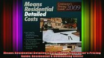 Read  Means Residential Detailed Costs Means Contractors Pricing Guide Residential   Full EBook