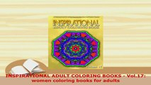 Download  INSPIRATIONAL ADULT COLORING BOOKS  Vol17 women coloring books for adults Ebook