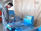 máy cắt dán màng co POF bán tự động, máy đóng gói màng co POF bán tự động