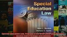READ book  Special Education Law Pearson eText with LooseLeaf Version  Access Card Package 3rd  FREE BOOOK ONLINE