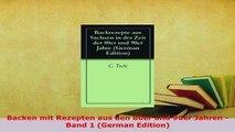 Download  Backen mit Rezepten aus den 80er und 90er Jahren  Band 1 German Edition PDF Online
