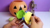 Halloween Play Doh Cupcakes DIY Ghost Pumpkin Witch Mummy How To Make Halloween Crafts Part 2