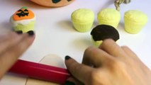 Halloween Play Doh Cupcakes DIY Ghost Pumpkin Witch Mummy How To Make Halloween Crafts Part 4