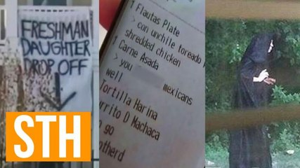 Sleazy Banners, Offensive Slur Receipt, Meat-Dropping Grim Reaper!