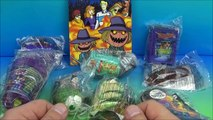 2014 SCOOBY DOO A HAUNTED HALLOWEEN SET OF 8 McDONALDS HAPPY MEAL KIDS TOYS VIDEO REVIEW