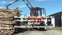 Wood Tiger GJ30 6WD load of chopped wood at a farm in April 2016