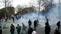 Manif à Paris - Incidents avec les CRS place de la République: Gaz lacrymogènes et interpellations