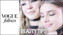 Gigi Hadid, Anja Rubik... Quels sont les secrets beauté des tops pendant la Fashion Week ? #VogueFollows | Vogue Paris