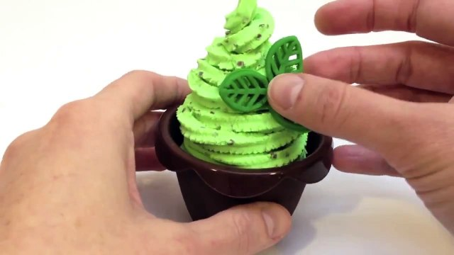 Play Doh Cupcakes Recipe How to make Cupcakes Playdough Mint Chocolate Ice Cream Recipe Part 3
