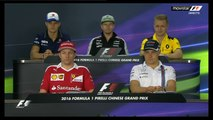 F1 2016 Chinese GP - Drivers Press Conference