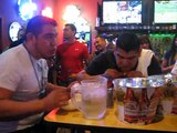Last Seconds of Super Atomic Wing Eating Challenge at Buffalo Wings & Rings - Del Rio, TX