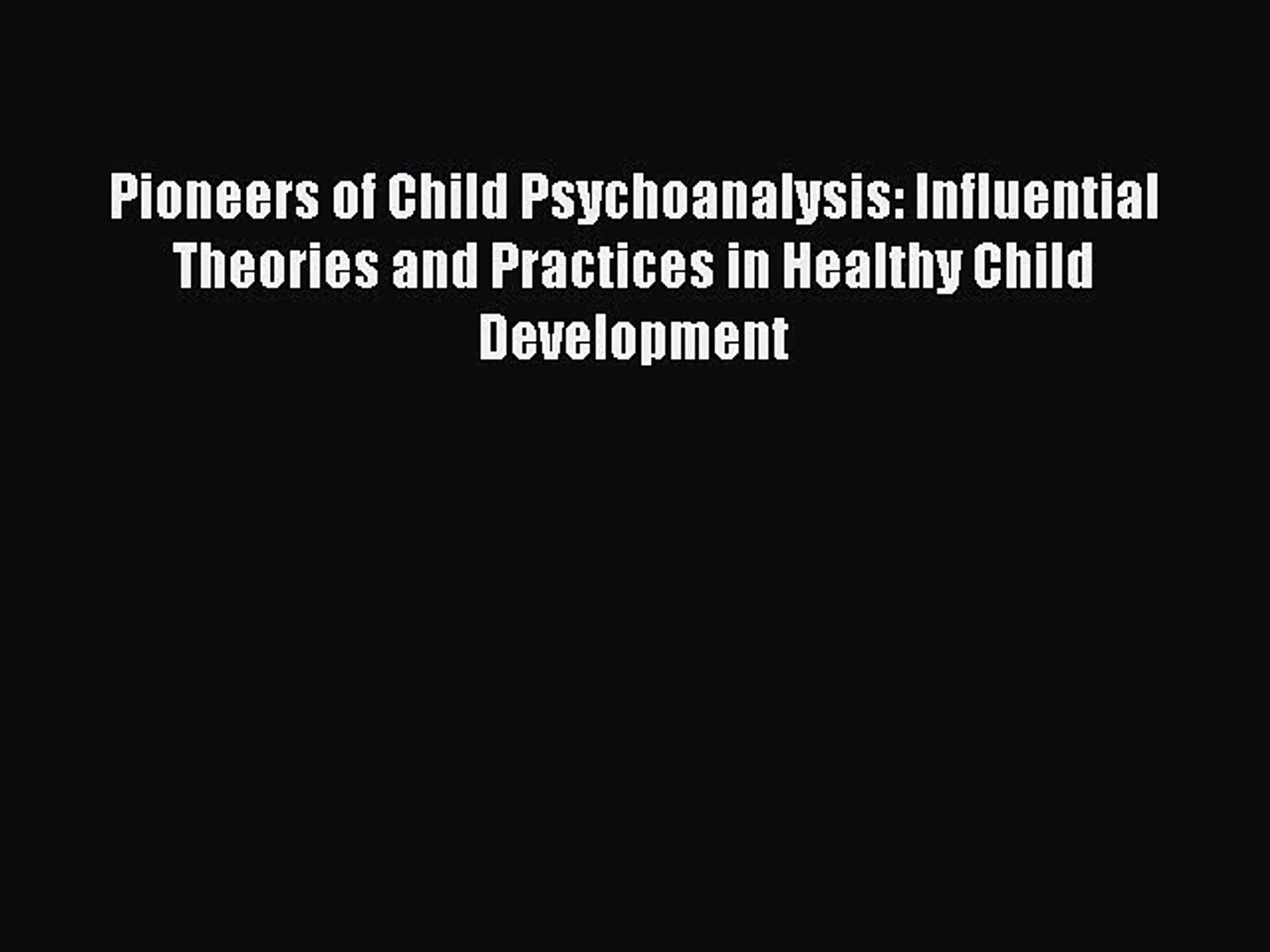 Pioneers of Interpersonal Psychoanalysis