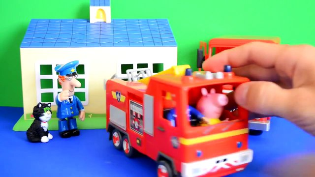 Fireman Sam Episode Peppa Pig Play doh Postman pat Van Fire Fire Engine Full Story WOW
