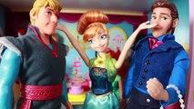Frozen Fever Annas Birthday Party Play Doh Cake Elsa Olaf Kristoff Hans Barbie Parody Toy Video