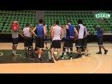 Les premiers pas de Terry SMITH à la veille du match de FIBA CUP contre le Maccabi Rishon