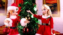 Descendants Mal & Evie And Frozen Elsa & Anna Christmas Party! With Audrey and Santa Claus PART 1