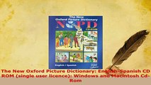 PDF  The New Oxford Picture Dictionary EnglishSpanish CD ROM single user licence Windows Download Online