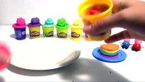 (TOYS) Comment faire un Rainbow Cake en pâte à modeler ♡ Peppa Pig Gâteau en Arc en ciel P
