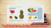 PDF  Your Water Footprint The Shocking Facts About How Much Water We Use to Make Everyday Download Online
