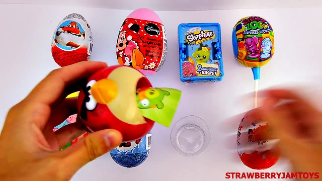 Spider Man and Spongebob - Shopkins Kinder Surprise Chupa Chup Peppa Pig Minnie Mouse - Surprise Egg