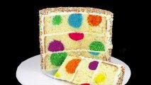 polka dot cake very easy n simple trick to make polka dot cake dailymotion