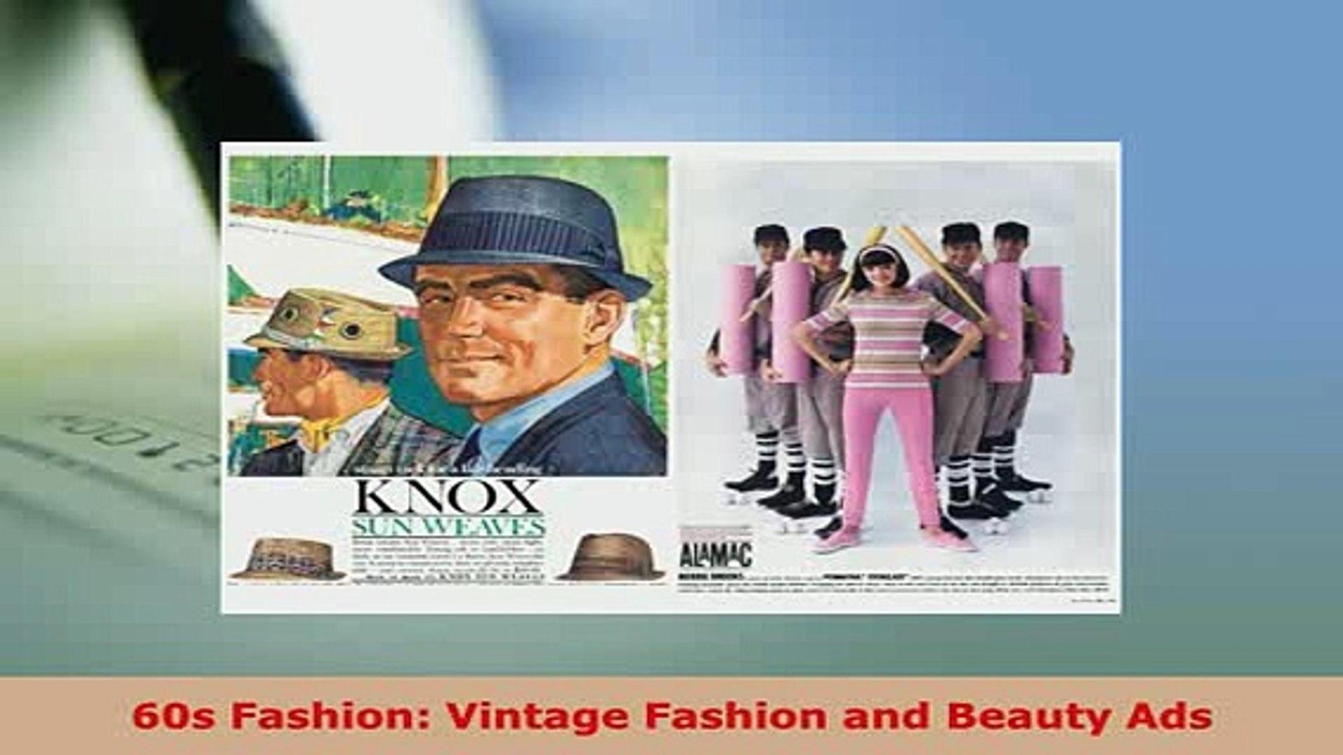 PDF  60s Fashion Vintage Fashion and Beauty Ads Ebook