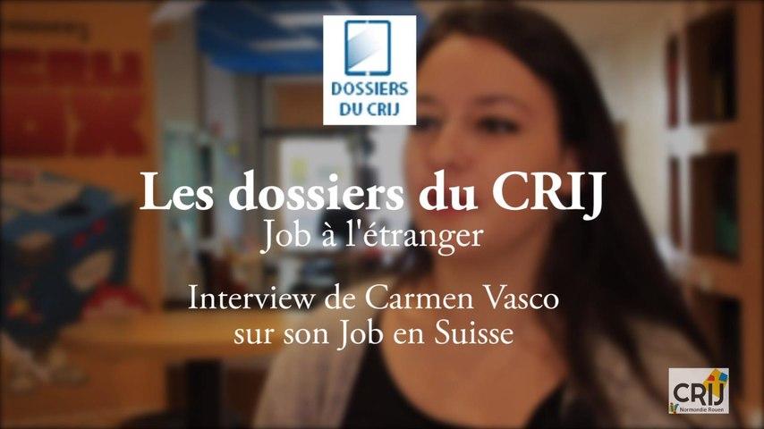 Job à l'étranger - Carmen en Suisse
