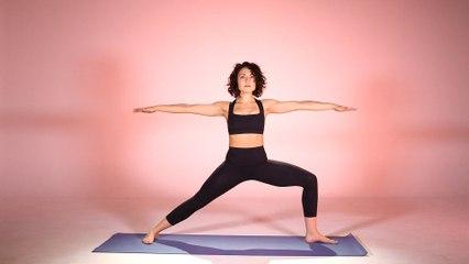 How to 'Pop Up' into Warrior 2 (Virabhadrasana 2) Pose, Yoga