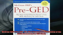 READ book  McGrawHills PreGED  The Most Comprehensive Review of the Skills Necessary for GED  FREE BOOOK ONLINE