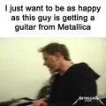 Quand James Hetfield de Metallica t offre sa guitare... Plus beau jour de la vie d un rockeur