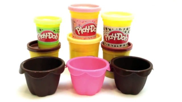 Play Doh Cupcakes Recipe How to make Cupcakes Playdough Mint Chocolate Ice Cream Recipe Part 1