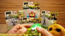 Ben 10 Oyuncaklar + 3 Sürpriz Yumurta Açımı izle  Dev Bloxx, Khyber, Dog ve Ben Figur ve Oyuncak