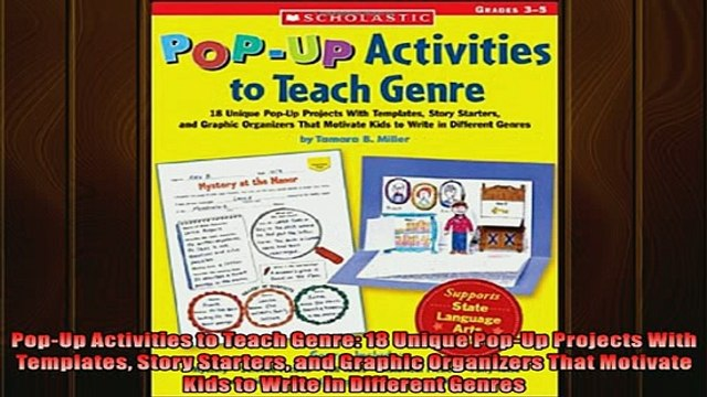 FREE PDF  PopUp Activities to Teach Genre 18 Unique PopUp Projects With Templates Story Starters  DOWNLOAD ONLINE