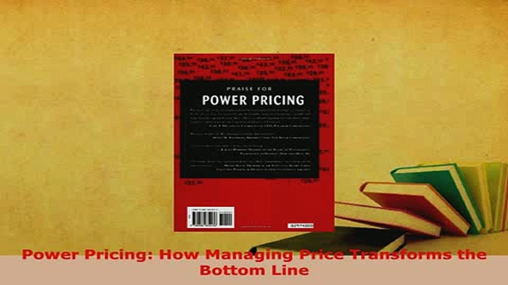 Download  Power Pricing How Managing Price Transforms the Bottom Line Ebook