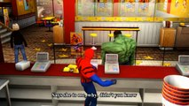 Cars Songs For Kids ♪ Sipping Cider Through a Straw ♪ HULK, Spider-man Epic Race Custom Cars