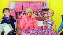 Frozen Barbie Double DATE Anna Kristoff Hans * Barbie Goes CRAZY RV Camper Barbie Parody