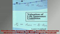 READ book  Valuation of Life Insurance Liabilities Establishing Reserves for Life Insurance Policies  FREE BOOOK ONLINE