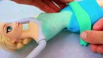 Elsa BALLERINA PLAY-DOH tutu makeover Disney Frozen Queen Elsa Barbie Doll AllToyCollector