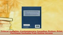 PDF  Critical Insights Contemporary Canadian Fiction Print Purchase Includes Free Online  EBook