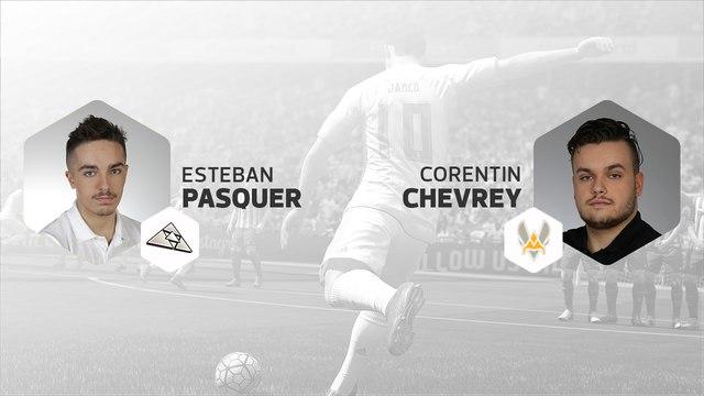 eSport - E-Football League - 12ej : Pasquer (13e-FC Barcelone) vs Chevrey (8e-Juventus)