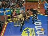 AAA-SinLimite 2009-05-21 Aguascalientes 02 Billy Boy, Polvo de Estrellas & Sexy Star vs. El Gato Eveready, Fabi Apache & Pimpinela Escarlata