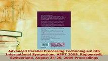 PDF  Advanced Parallel Processing Technologies 8th International Symposium APPT 2009 Free Books