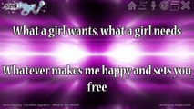 What A Girl Wants in the style of Christina Aguilera karaoke version