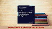 PDF  Encyclopedia of Sciences and Religions Download Full Ebook
