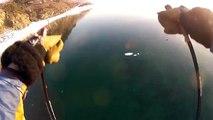 ice-skiing becomes water skiing