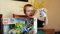 Jurassic World Lego Set Unboxing - LEGO Jurassic World Dilophosaurus Ambush 75916 - The Andrew Show