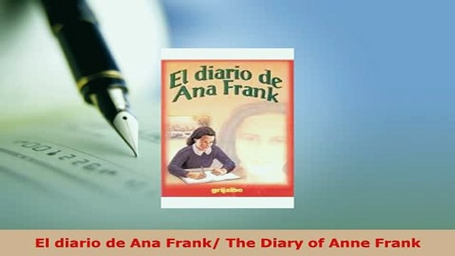 PDF  El diario de Ana Frank The Diary of Anne Frank Download Online