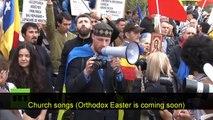 Romanians protest mega mosque Bucharest
