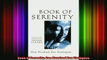 Read  Book of Serenity One Hundred Zen Dialogues  Full EBook